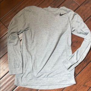 Men's Gray Nike Dri-Fit hoodie size small